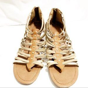 Madden Girl Gladiator Wedge Sandals Brown
